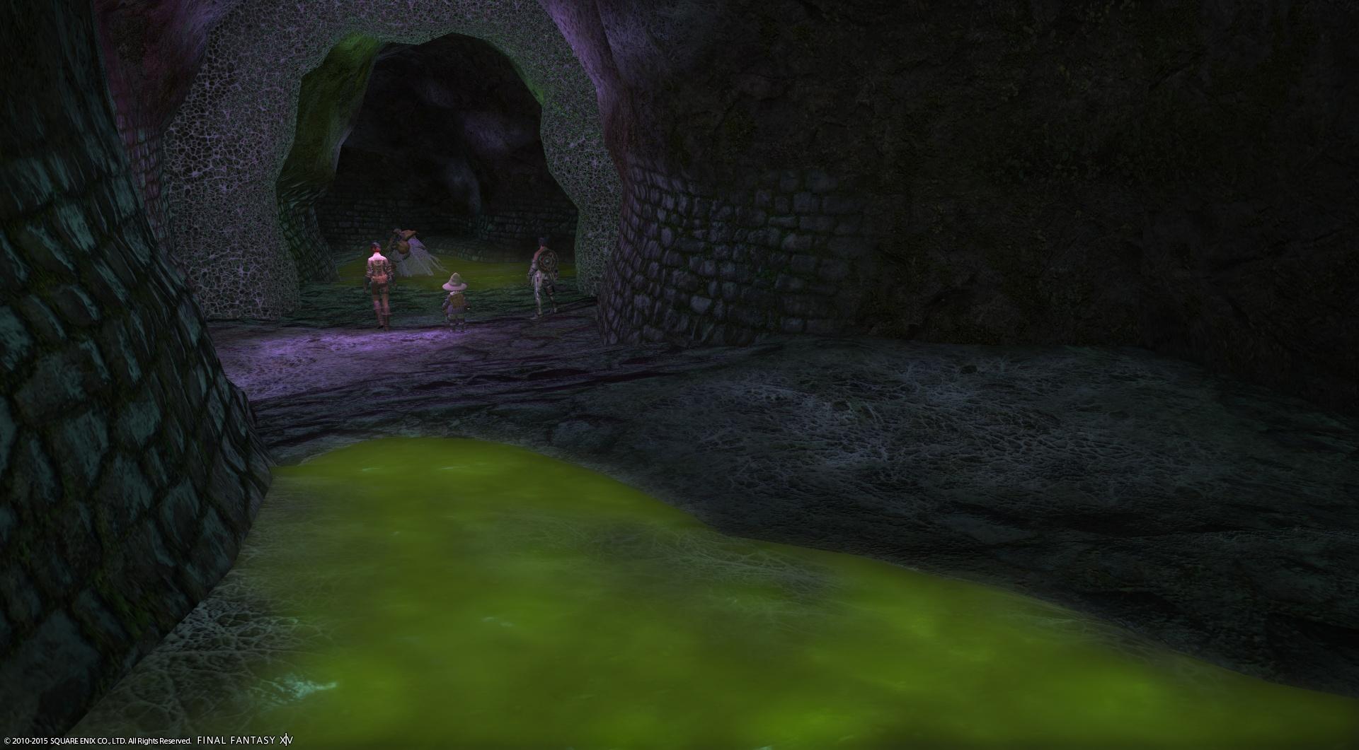 監獄廃墟 トトラクの千獄 - スライム状の地面は歩くとヘヴィーになる